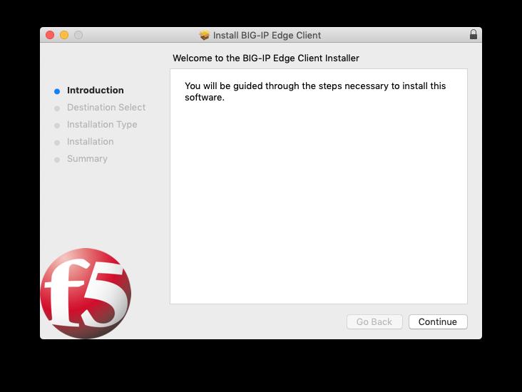 Big IP Installation window