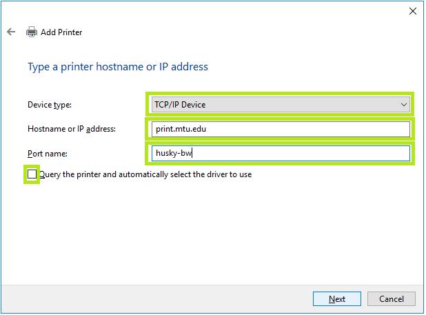 add printer window options