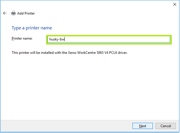 add printer name