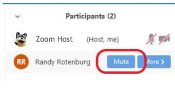 Mute an Individual