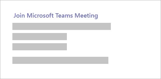 Join Microsoft Teams Meeting
