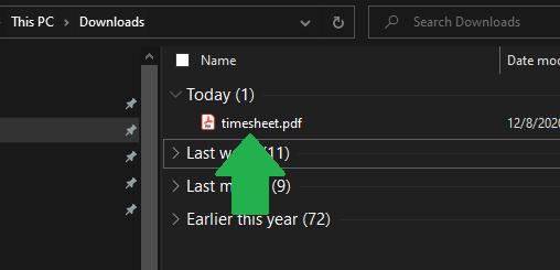 Open PDF file from File Explorer