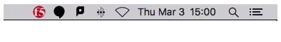 f5 icon in menu bar