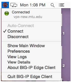 show main window option in menu bar