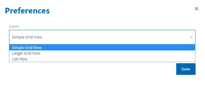 select layout option