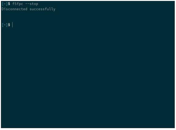 terminal window - stop VPN