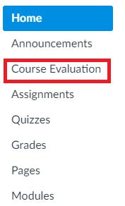 Course evaluation button