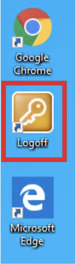windows log off button