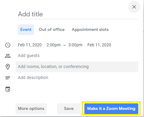 Make it a Zoom Meeting