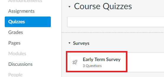 Early Term Survey